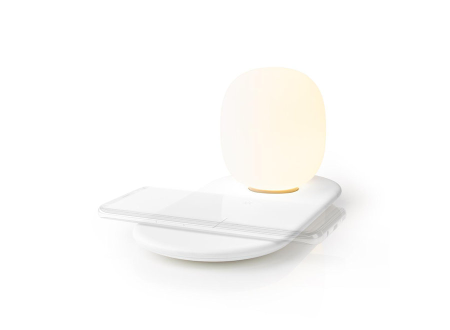 Nedis LTLQ10W1WT LED Nachtlamp met Qi Draadloze