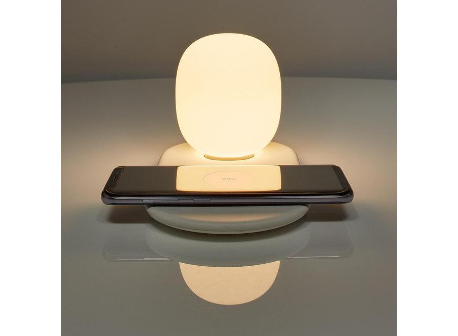 Nedis LTLQ10W1WT LED Nachtlamp met Qi Draadloze Oplader 10 W