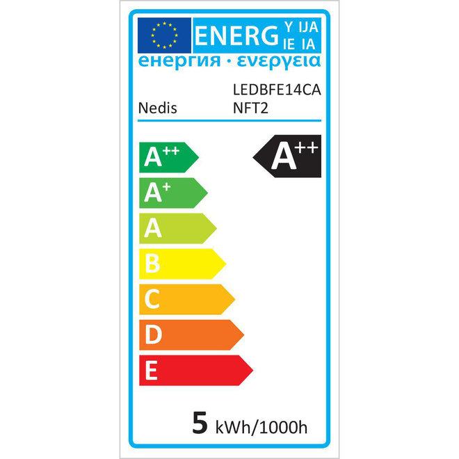 Nedis LEDBFE14CANFT2 E14 Retro LED Lamp Kaars met Punt (4,8W, 470lm, 2700K, Dimbaar)