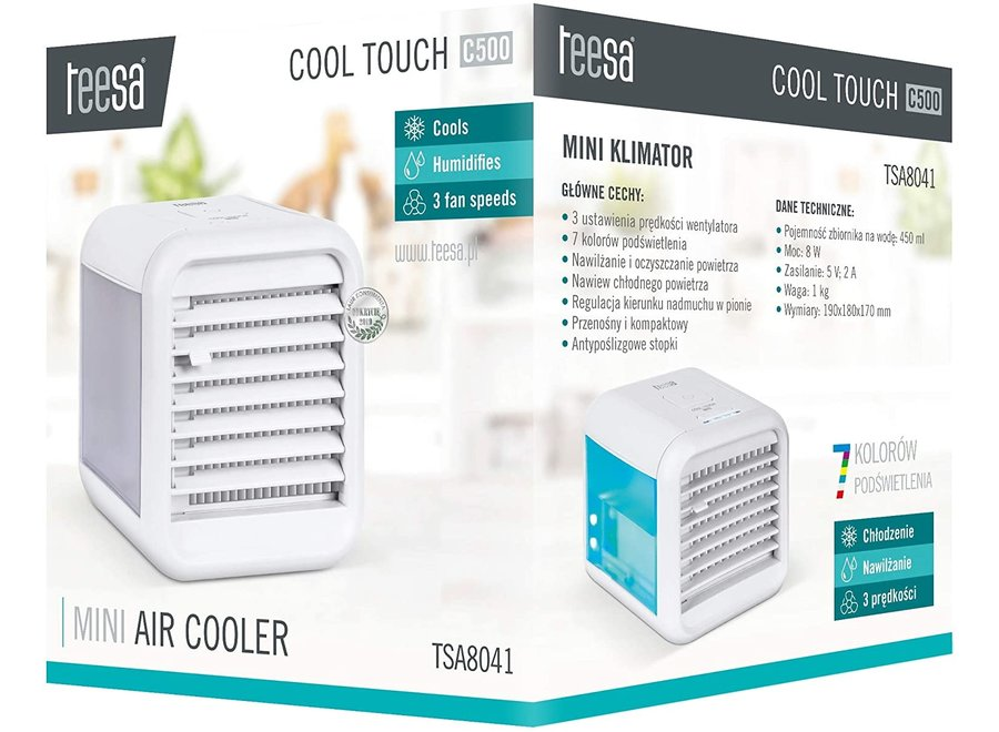 Teesa Cool Touch C500 Mini LED Air Cooler