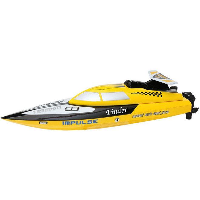 Wltoys WL912 RC Speedboot 2.4GHz 25 KM/U - Geel
