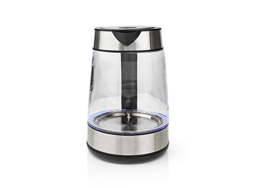 Nedis KAWK320EGS Waterkoker 360° Draaibaar 1.7L - Glas