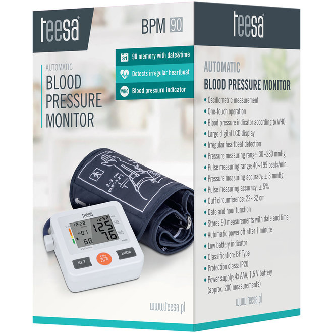 Teesa BPM 90 Bovenarm Bloeddrukmeter