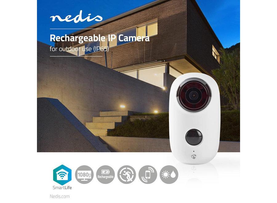 Nedis SmartLife WIFICBO10WT Oplaadbare IP-camera HD 1080P