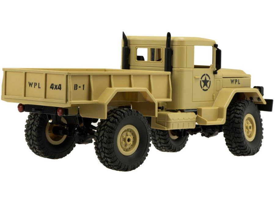 WPL B-14R Militaire Truck RTR 4WD 2.4GHz 1:16 - Beige