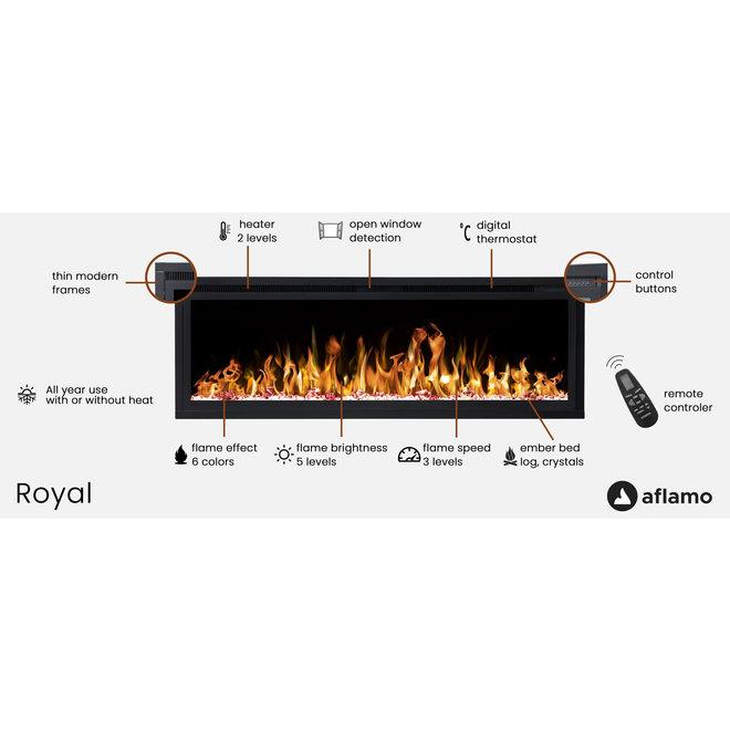 Aflamo Royal 42 LED Inbouwhaard Elektrische - 106cm