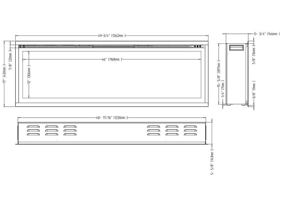 Aflamo Royal 50 LED Inbouwhaard Elektrische - 126cm
