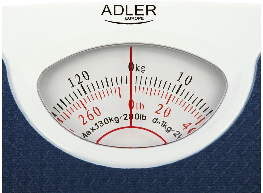 Adler AD 8151b Personenweegschaal (Analoog, Blauw)