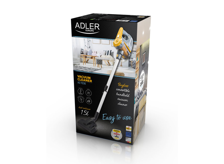 Adler AD 7036 Steelstofzuiger (800W, 1,5L, 79dB, Bedraad)