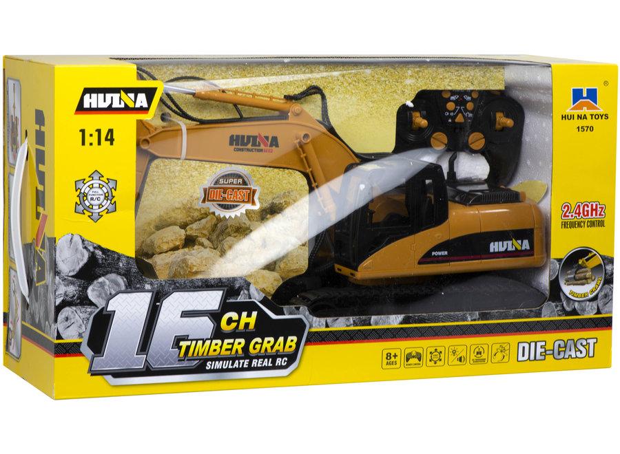 H-Toys 1570 RC Rupskraan met Houtgrijper 2.4GHz 1:14