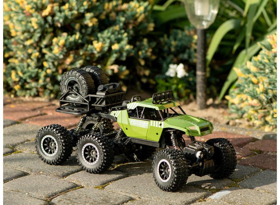 Sulong Toys RC SL-184A Rock Crawler (Groen, 6WD, 2.4GHz, 1:14)