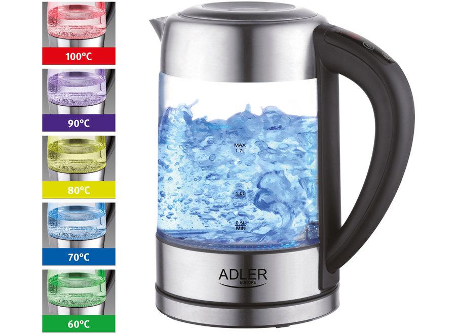 Adler AD 1247 Waterkoker (Temperatuurcontrole, LED, 1,7L)