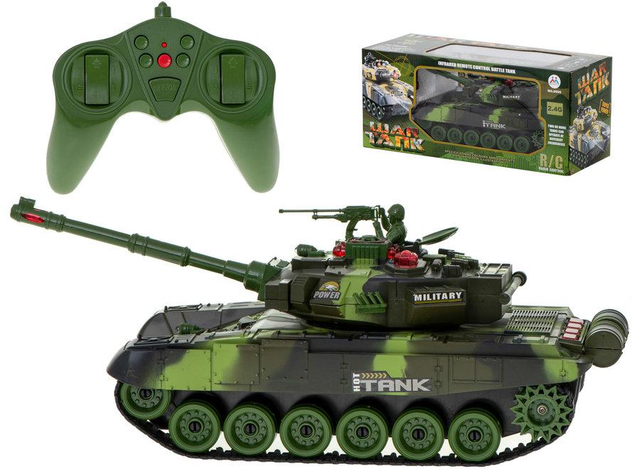 Brother Toys RC Big War Tank 9995 (Legergroen, 2.4GHz)