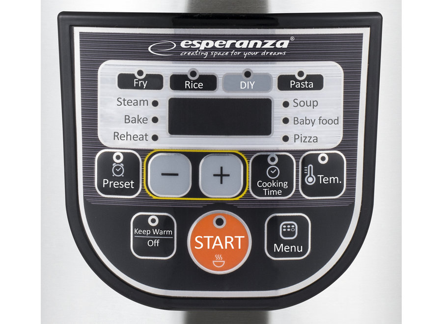 Esperanza Cooking Mate Multicooker (5L, 11 kookfuncties)