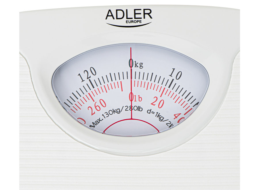 Adler AD 8151w Personenweegschaal (Analoog, Wit)