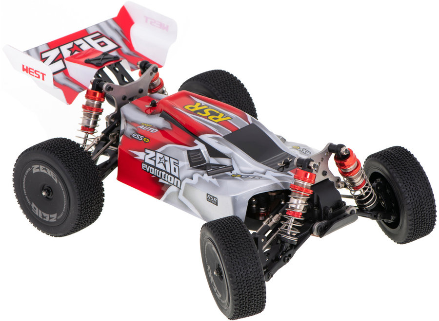 WLtoys 144001 RC Buggy (Rood, 4WD, 2.4GHz, 1/14)