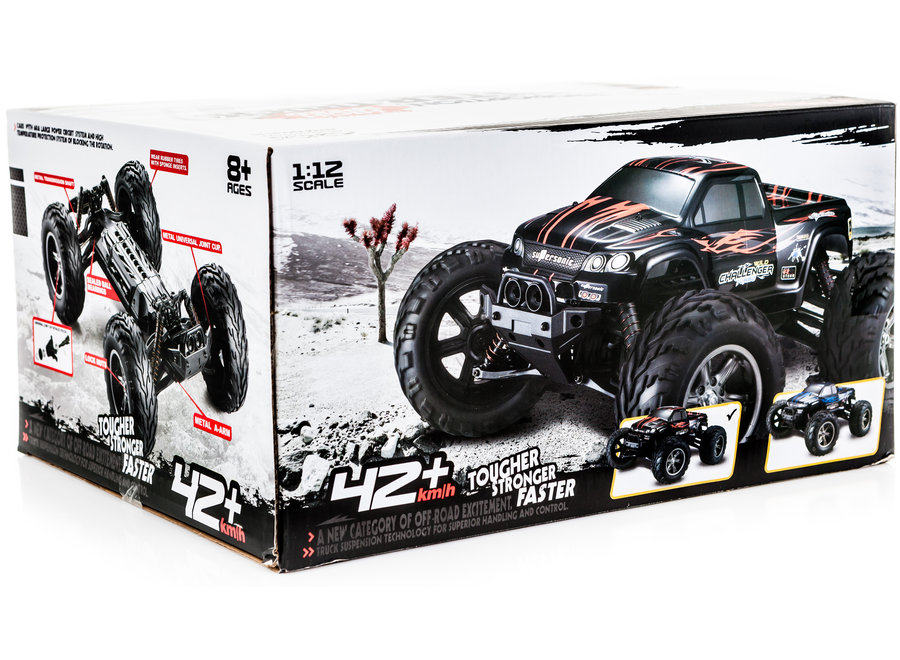 XinLeHong Toys 9115 RC Monster Truck (Rood, 2WD, 2.4GHz, 1/12)