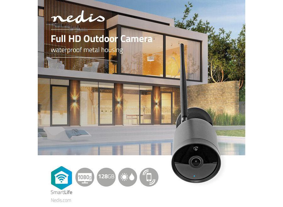Nedis SmartLife WIFICO40CBK Camera voor Buiten (Wifi, Full HD 1080p, Bedraad)