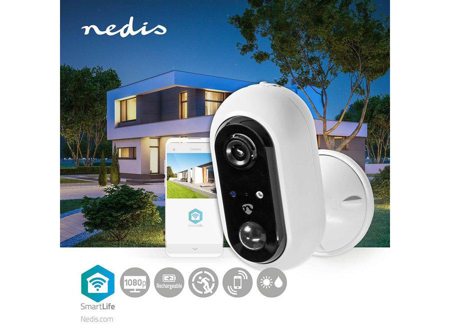 Nedis SmartLife WIFICBO20WT Camera voor Buiten (Wifi, Full HD 1080p, Draadloos)