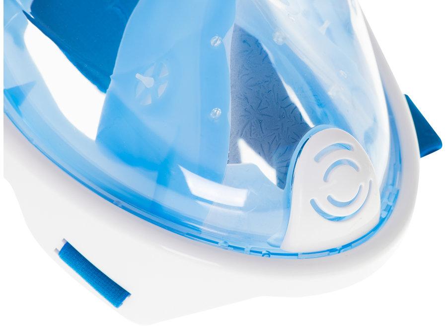 Full Face Mask met Snorkelmasker (Blauw, GoPro houder)