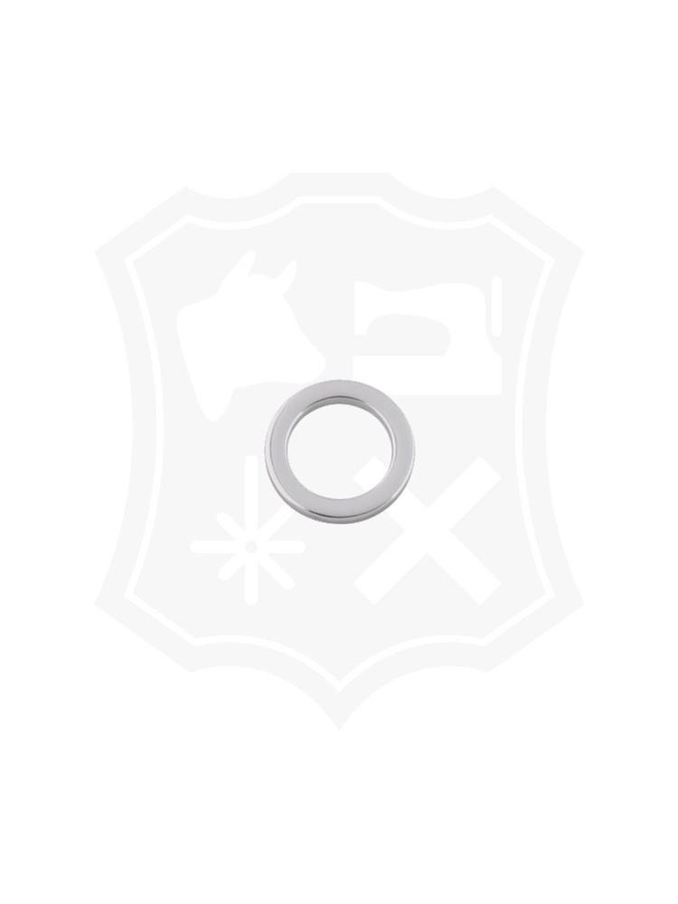 Platte Ronde Ring, nikkelkleurig, diverse maten (4 stuks)