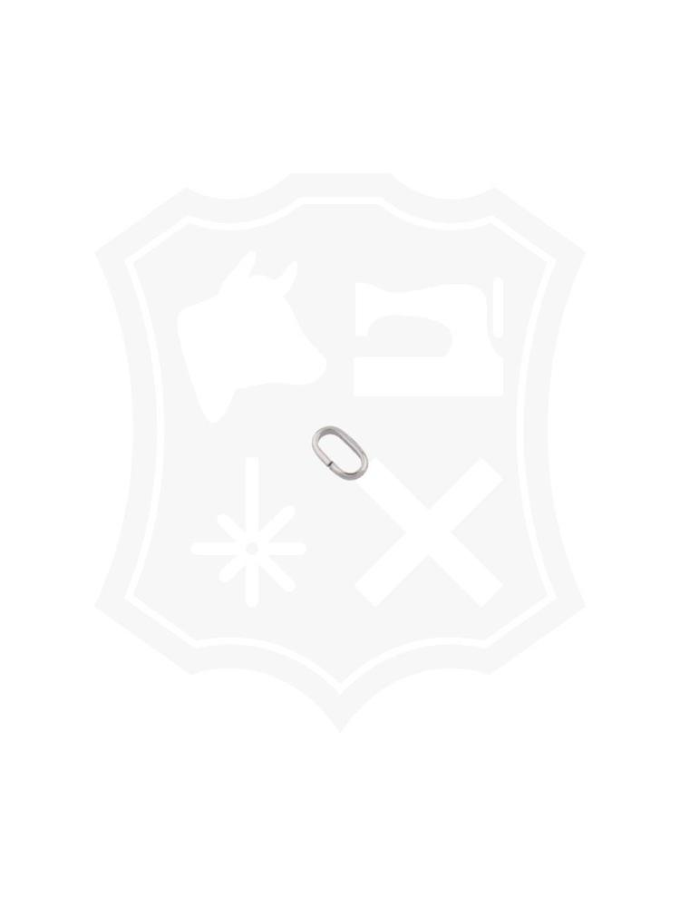 Ovale Ring, nikkelkleurig, binnenmaat 10,6mm (8 stuks)