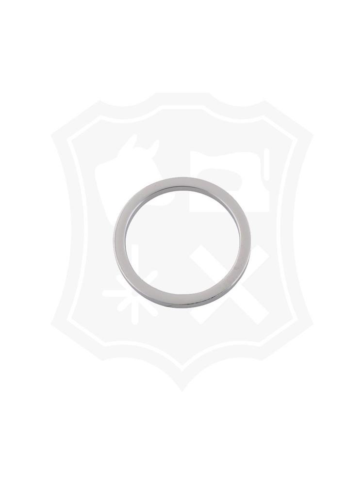 Platte Ronde Ring, nikkelkleurig, binnenmaat 57,5mm