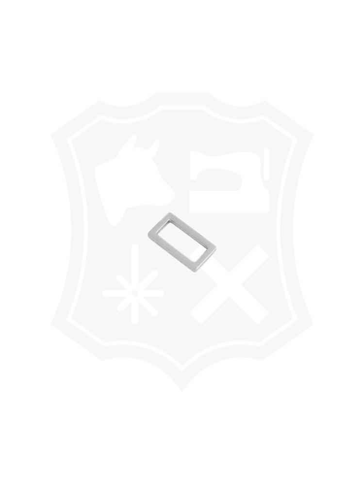 Platte Rechthoekige Ring, nikkelkleurig, diverse maten (2 stuks)