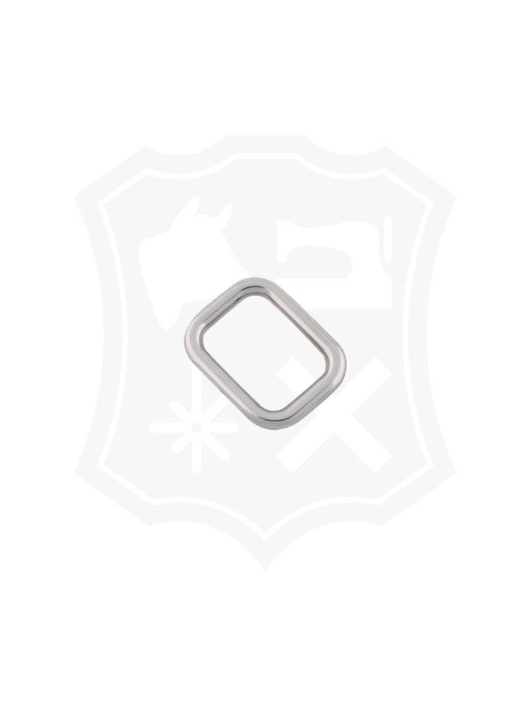 Rechthoekige Ring, nikkelkleurig, diverse maten (3 stuks)