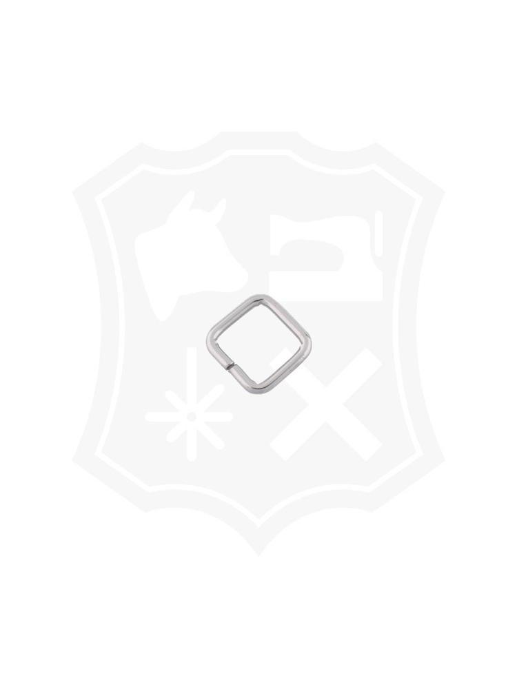 Vierkante Ring, nikkelkleurig, binnenmaat 20,2mm (15 stuks)