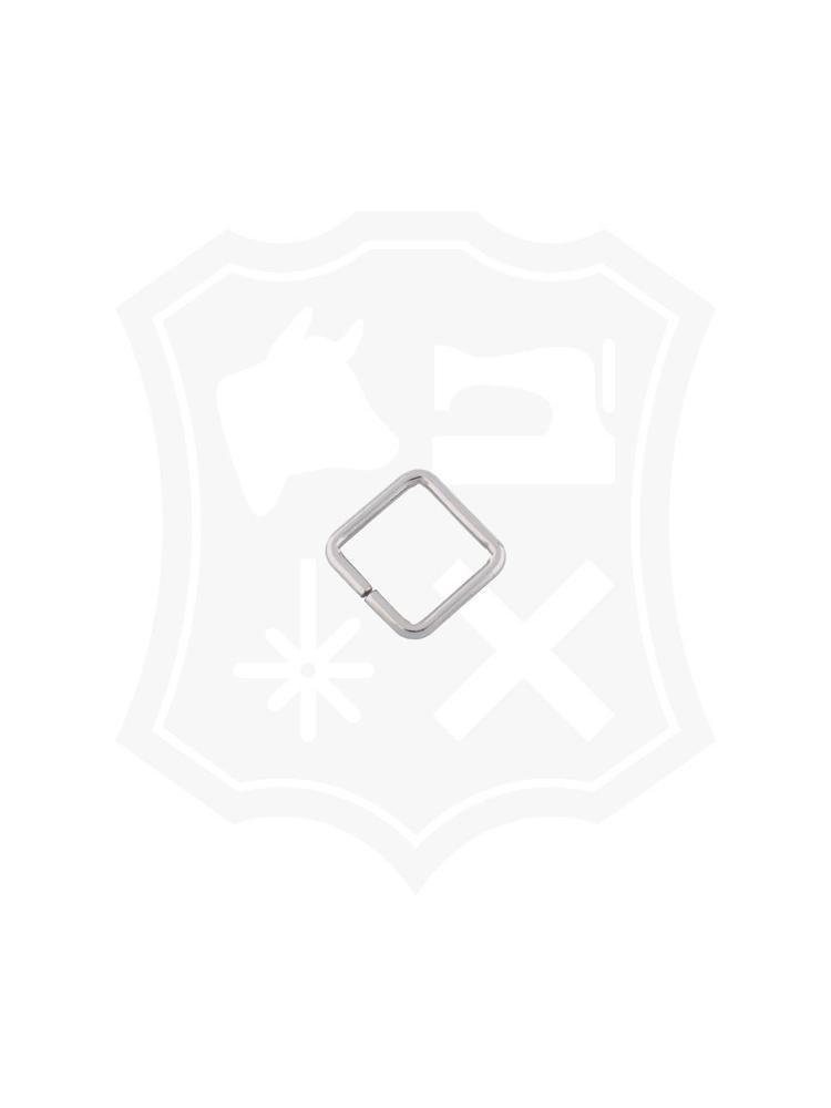 Vierkante Ring, nikkelkleurig, binnenmaat 24,9mm (6 stuks)