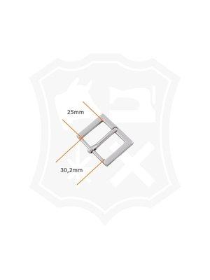 Rechthoekige Gesp, nikkelkleurig, binnenmaat 30,2mm (2 stuks)