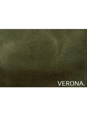 Verona Italiaans Pull-up Leder, volnerf (E237: Verde)