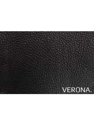 Verona Italiaans Pull-up Leder, volnerf (ZA580: Nero)
