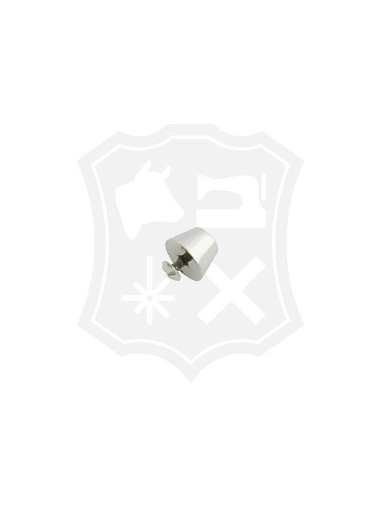 Luxe Studs, schroef, nikkelkleurig, diameter 15mm (2 stuks)