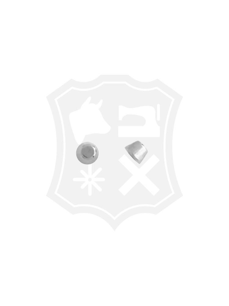 Studs, schroef, nikkelkleurig, diameter 9,6mm (6 stuks) (Excl. schroeven)