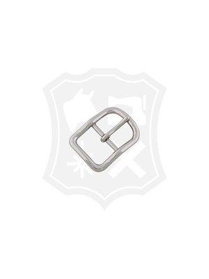 D-Vormige Gesp, nikkelkleurig, binnenmaat 25,6mm