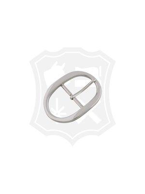 Ovale Gesp, nikkelkleurig, 39,9mm
