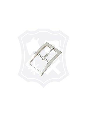 Luxe Rechthoekige Gesp, nikkelkleurig, binnenmaat 30,2mm
