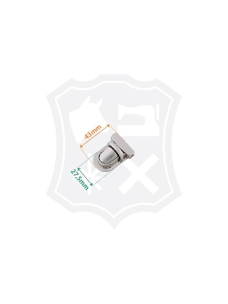 Tic-Tuc Slot, nikkelkleurig, 32mm x 43mm