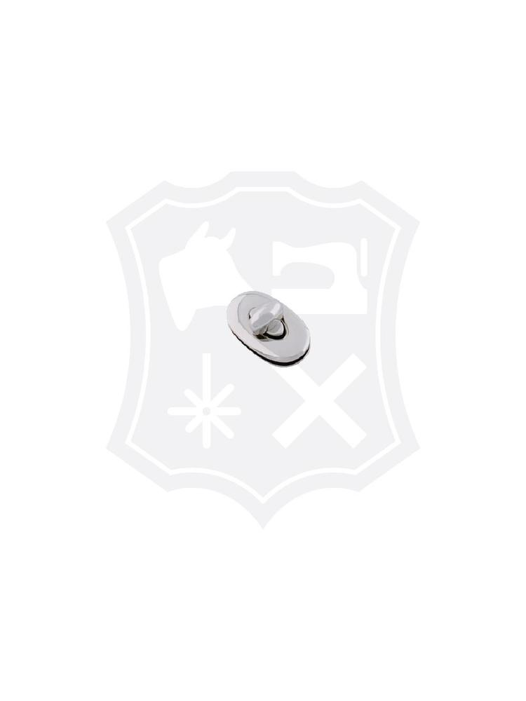 Ovaal Draaislot, nikkelkleurig, 33mm x 20mm