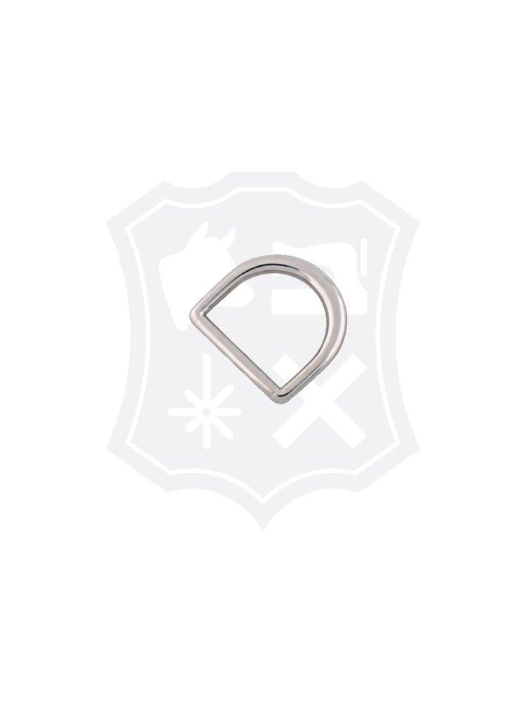 D-Vormige Tashengsel Bevestiging, nikkelkleurig, binnenmaat 20,3mm (4 stuks)