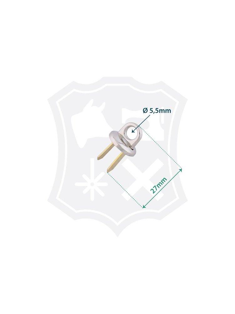 Tashengsel Bevestiging, nikkelkleurig, binnenmaat 5,5mm (4 stuks)
