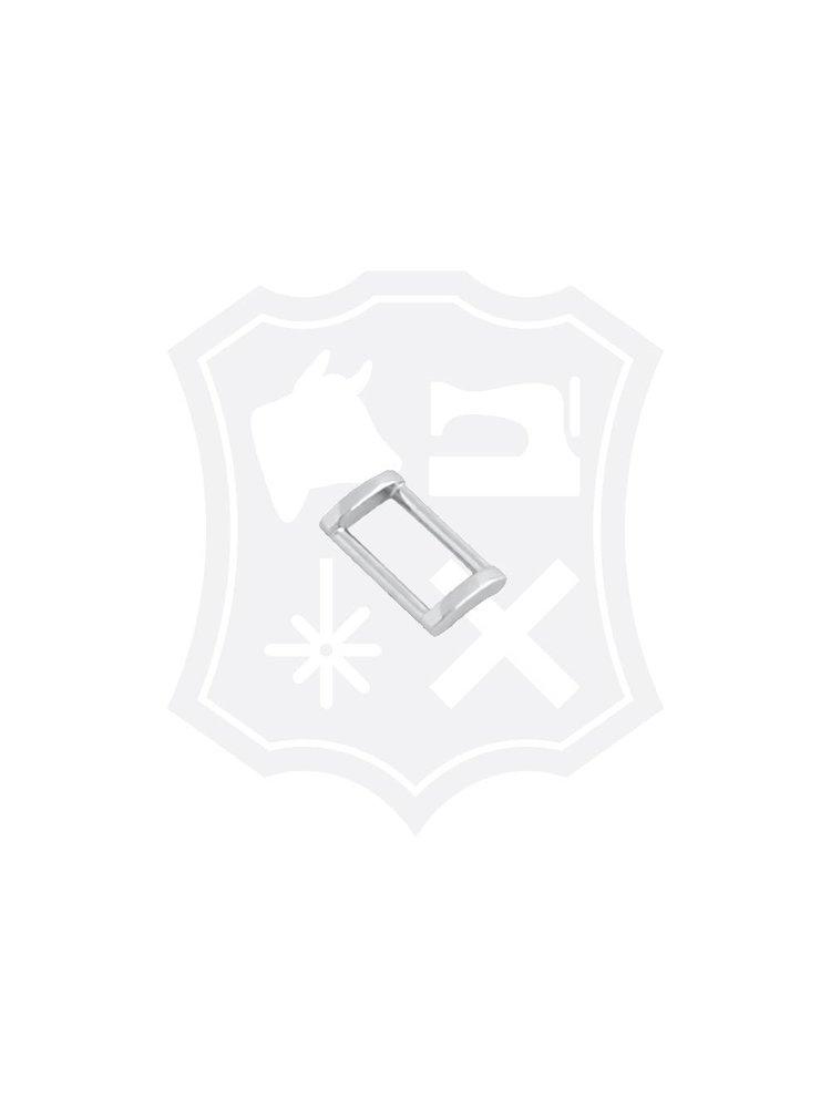Rechthoekige Tashengsel Bevestiging, nikkelkleurig, diverse maten (3 stuks)