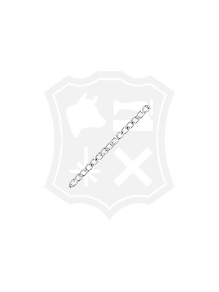 Gourmet Schakel Ketting, Geslepen, nikkelkleurig, 12mm x 7mm (1 meter)