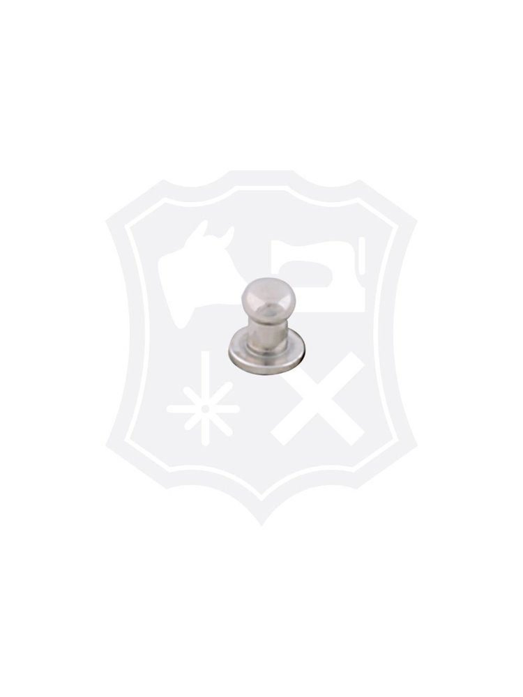 Geweerknop, nikkelkleurig, kop 5mm (20 stuks)