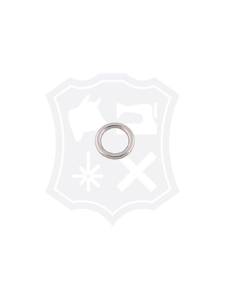 Ronde Ring, nikkelkleurig, binnenmaat 14,6mm, dikte 3,2mm (4 stuks)