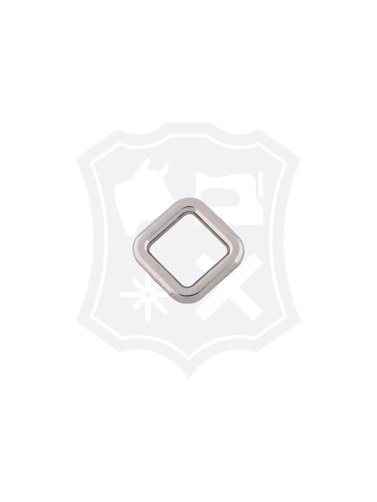 Vierkante Ring, nikkelkleurig, diverse maten (2 stuks)