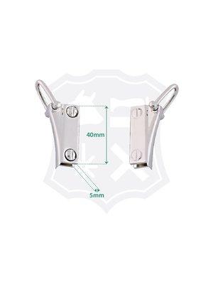 Tashengsel Bevestiging, schroef, nikkelkleurig, lengte 40mm (2 stuks)