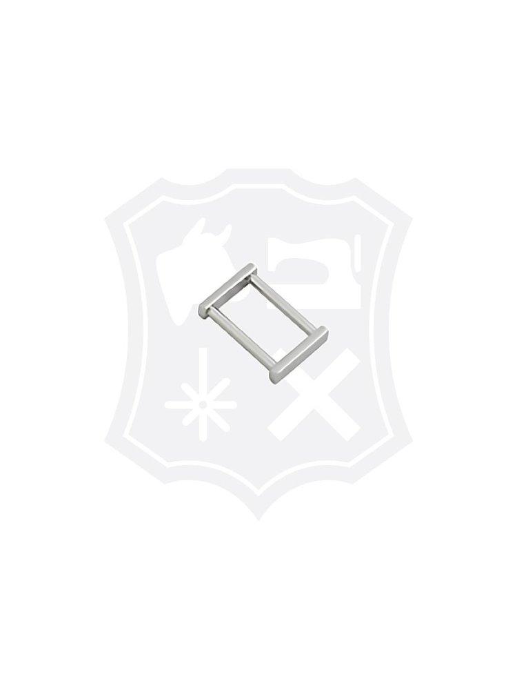 Rechthoekige Tashengsel Bevestiging, nikkelkleurig, diverse maten (4 stuks)